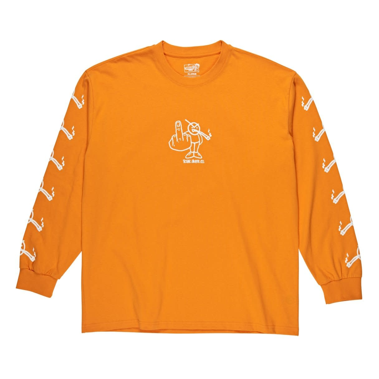 Polar Skate Co. Angry Stoner L/S Bright Orange