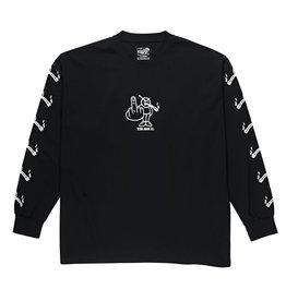 Polar Skate Co. Angry Stoner L/S Black