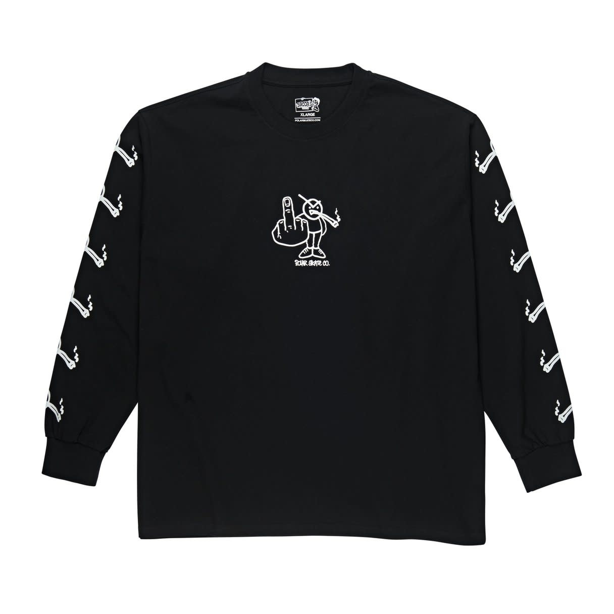 Polar Skate Co. Angry Stoner L/S Black