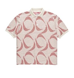 Polar Skate Co. Patterned Polo Shirt Ivory/Red