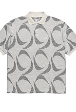 Polar Skate Co. Patterned Polo Shirt Ivory/Black