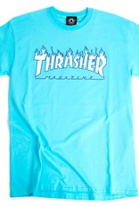 Thrasher Mag. Flame Logo Sky Blue