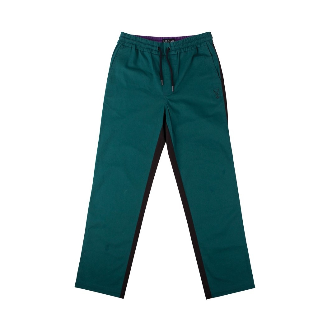 Welcome Skateboards Dark Wave Split-Color Pant Black/Dark Teal