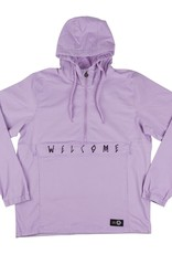 Welcome Skateboards Scrawl Twill Anorak Lavender/Black Medium
