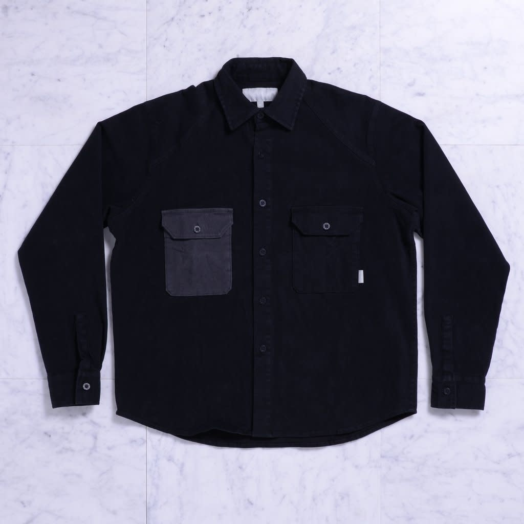 Quasi Skateboards CM L/S Button Up Black