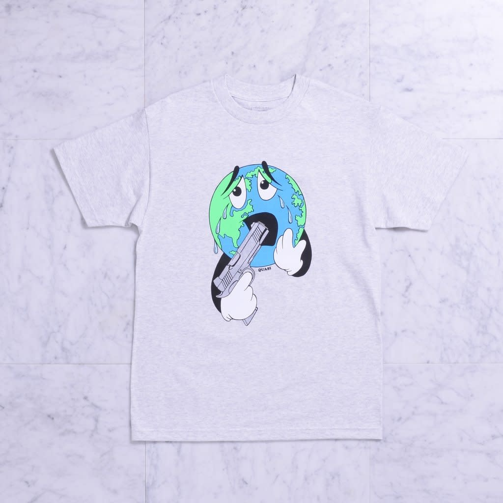 Quasi Skateboards World Tee Ash