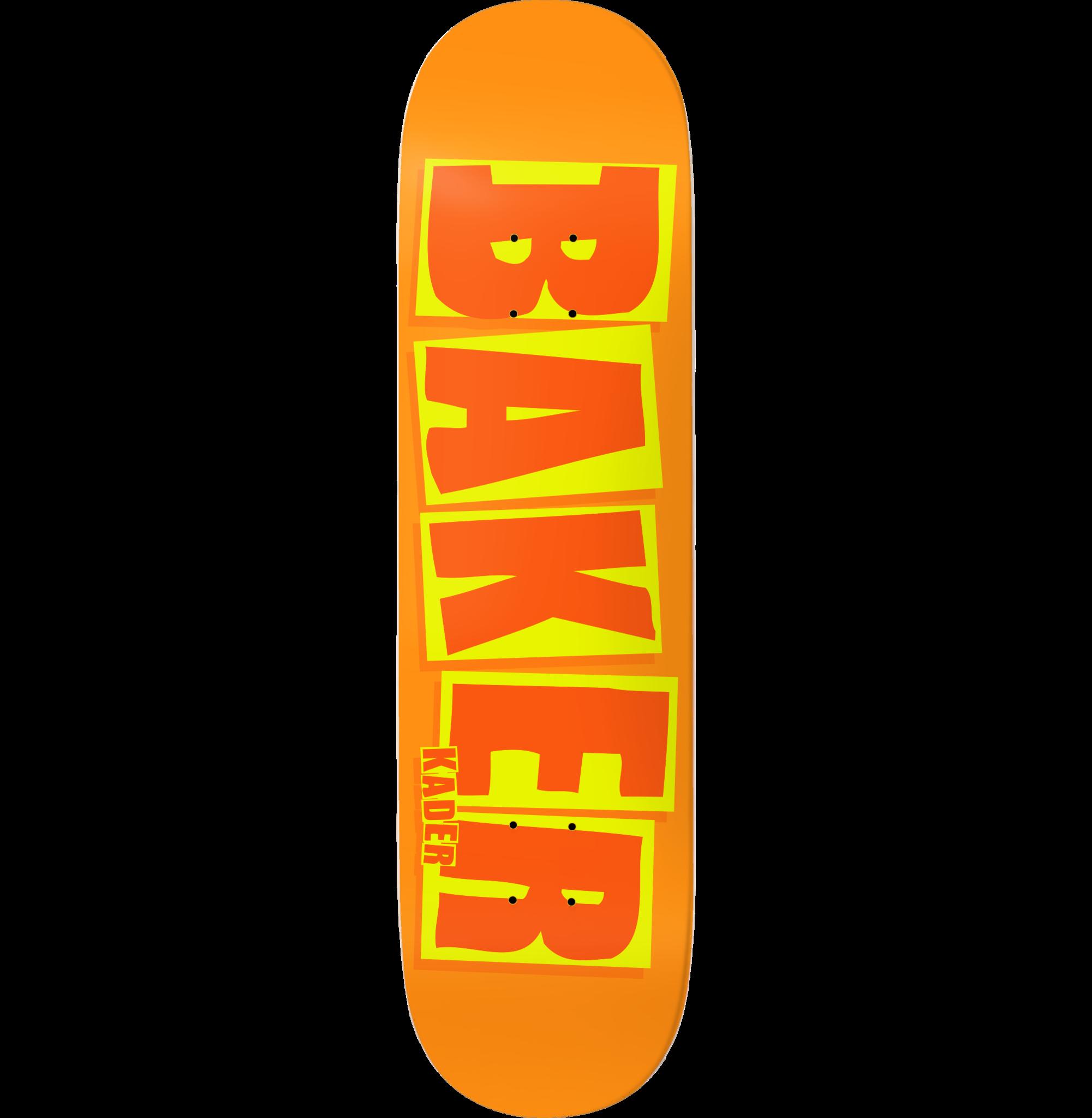 """Baker Skateboards KS Brand Name Orange B2 8.5"""""""