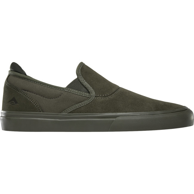 Emerica Footwear Wino G6 Slip-On Olive