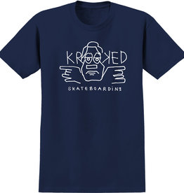 Krooked Dude Tee Navy/White
