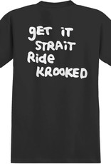 Krooked Strait Eyes Pocket Black White Tee