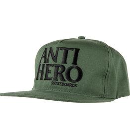 Anti Hero Black Hero Emb Snapback Green