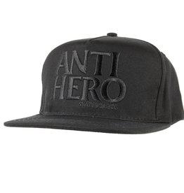 Anti Hero Black Hero Emb Snapback Black