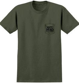 Anti Hero Reserve Pocket Green Black Tee
