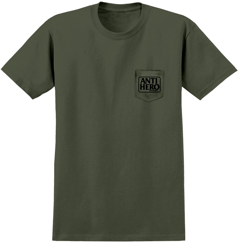 Anti Hero Reserve Pocket Green Black Tee