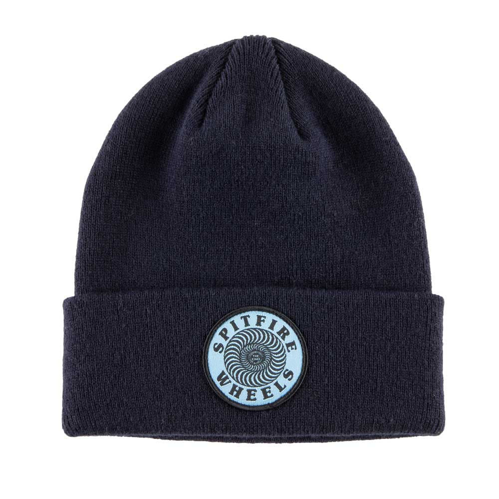 Spitfire Wheels OG Classic Swirl Patch Navy Cuff Beanie