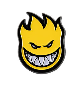 Spitfire Wheels Bighead Lapel Pin Black/Yellow
