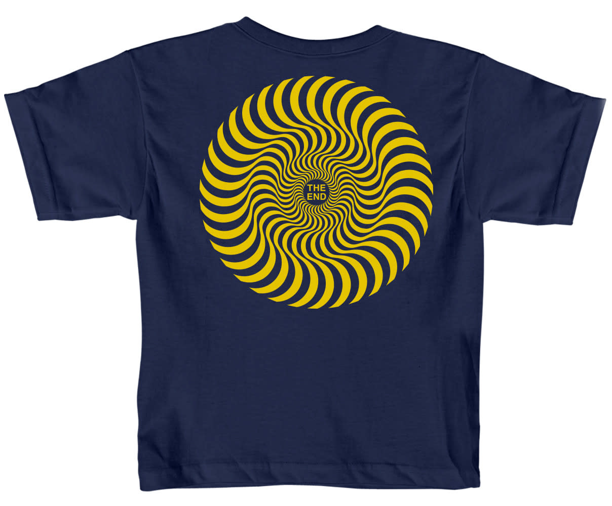 Spitfire Wheels Classic Swirl Toddler Navy/Yellow
