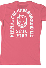 Spitfire Wheels Grils Steady Rockin Coral/White Tee
