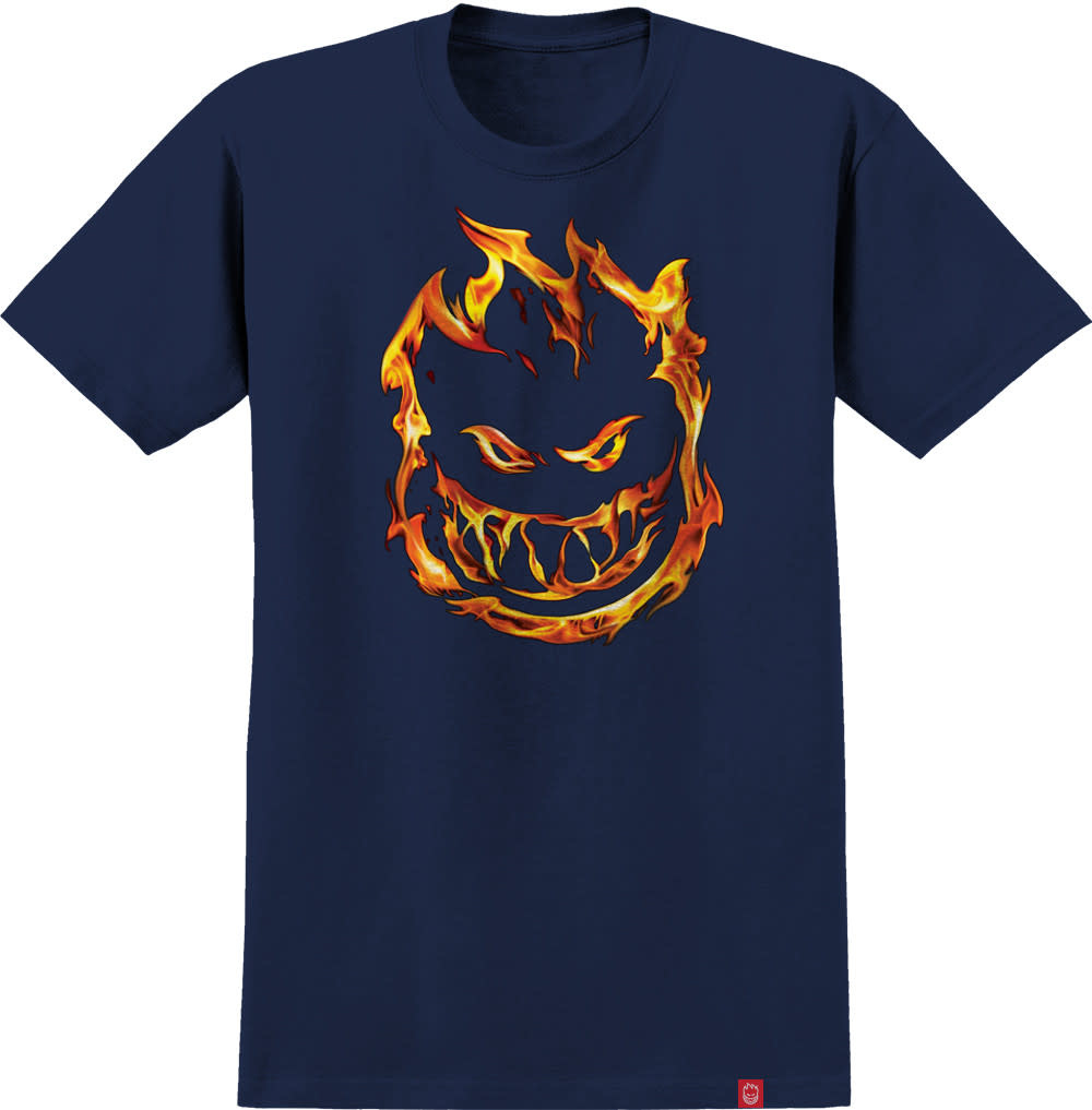 Spitfire Wheels 451 Youth Tee Navy/Red