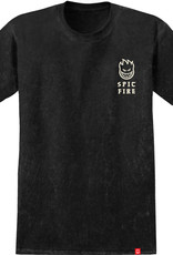 Spitfire Wheels Steady Rockin Tee Black Mineral Wash