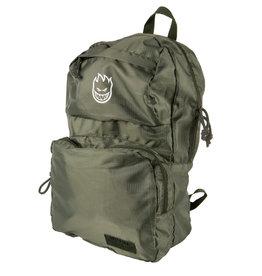 Spitfire Wheels Burn Division Packable Green Backpack
