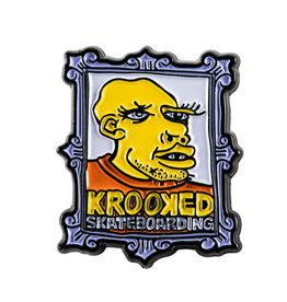 Krooked Frame Face Lapel Pin