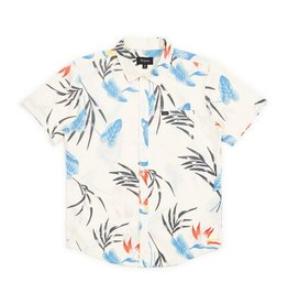 Brixton Charter Print S/S Off White/Blue