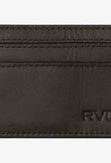 RVCA Clean Card Wallet Black Leather