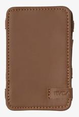 RVCA Leather Magic Wallet Tan