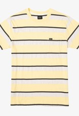 RVCA Fjords Stripe S/S Popcorn Yellow