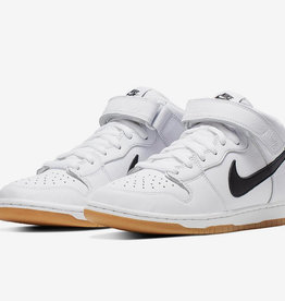 Nike USA, Inc. Nike SB Dunk Mid Pro ISO White/Black/Gum