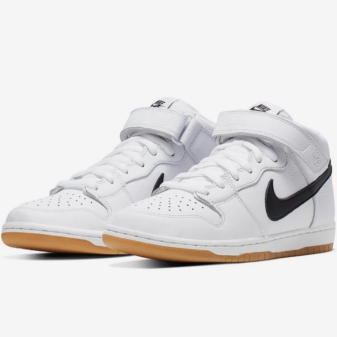 the latest dc90e 27e93 Nike USA, Inc. Nike SB Dunk Mid Pro ISO White Black Gum