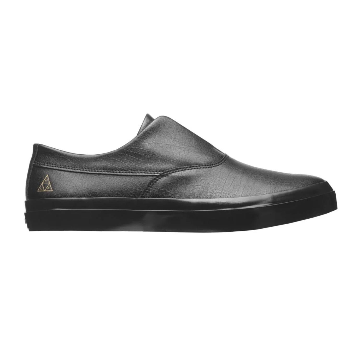 HUF Dylan Slip On Black/Black Full Leather