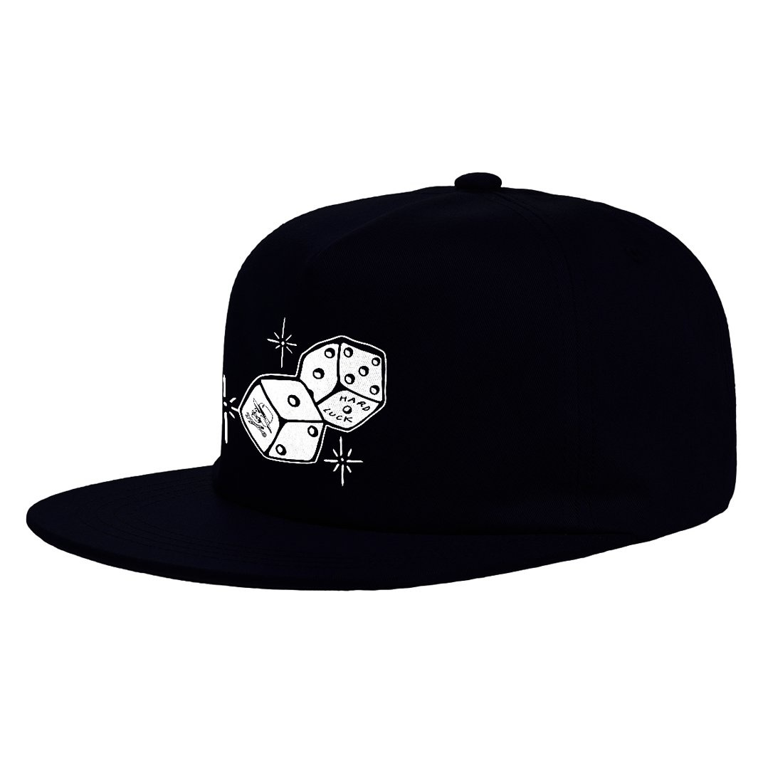 Hard Luck Mfg. Snake Eyes Unstructured Hat Black