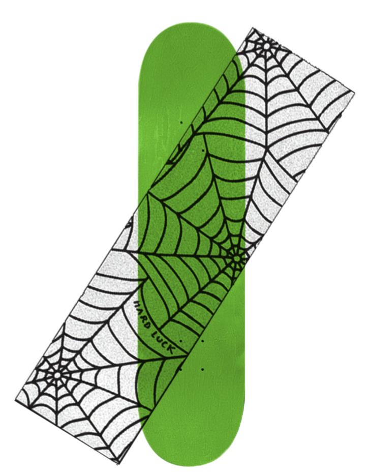 Hard Luck Mfg. Reverse Spider Web Clear Griptape
