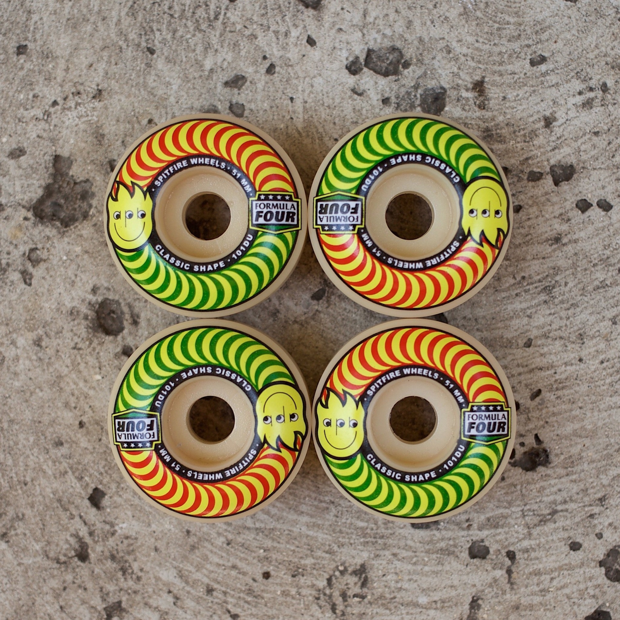 Spitfire Wheels APB x Spitfire F4 101 Happy Swirl Classic 51