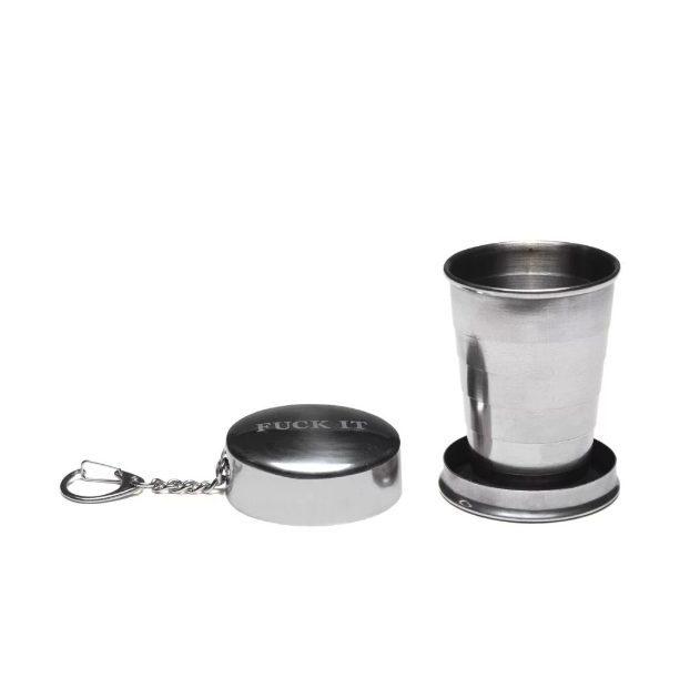 HUF Fuck It Shot Glass Keychain