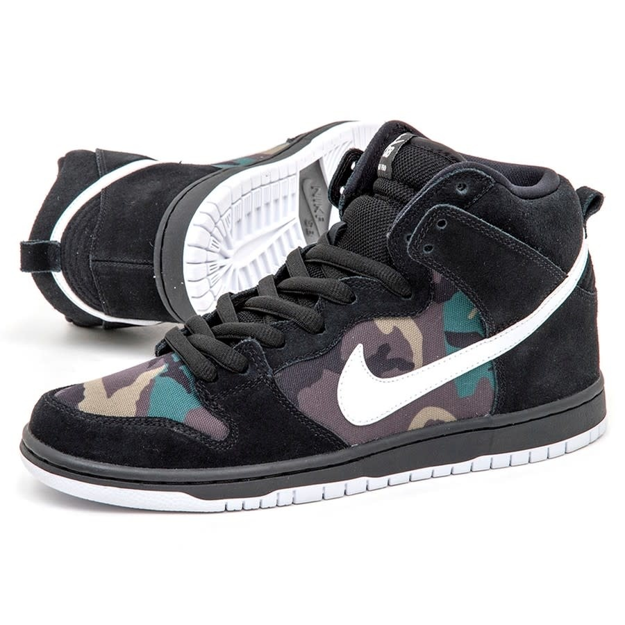 reputable site 499f7 5e9ef Nike SB Dunk High Pro Black/White Iguana