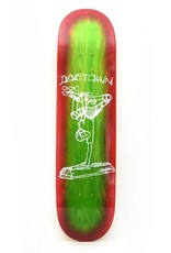 """Dogtown Curb Plant 8.0"""" Lime Stain/Neon Red Fade"""