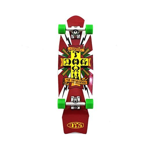 """Dogtown Death to Invaders Mini 8.5"""" Complete White"""