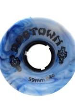 Dogtown Dogtown Mini Cruiser 59mm 84a White/Blue Swirl