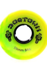 Dogtown Dogtown Mini Cruiser 59mm 84a Yellow/Green Swirl