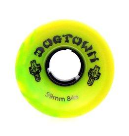 Dogtown Dogtown Mini Cruiser 59mm 84a Yellow/Green Swirl