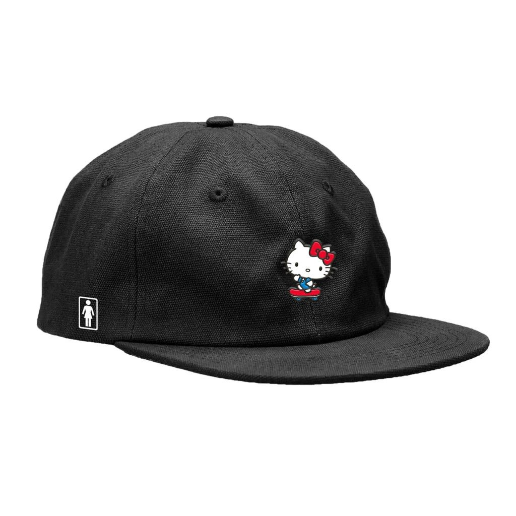 Girl Skateboard Company Kitty Push Snapback Black