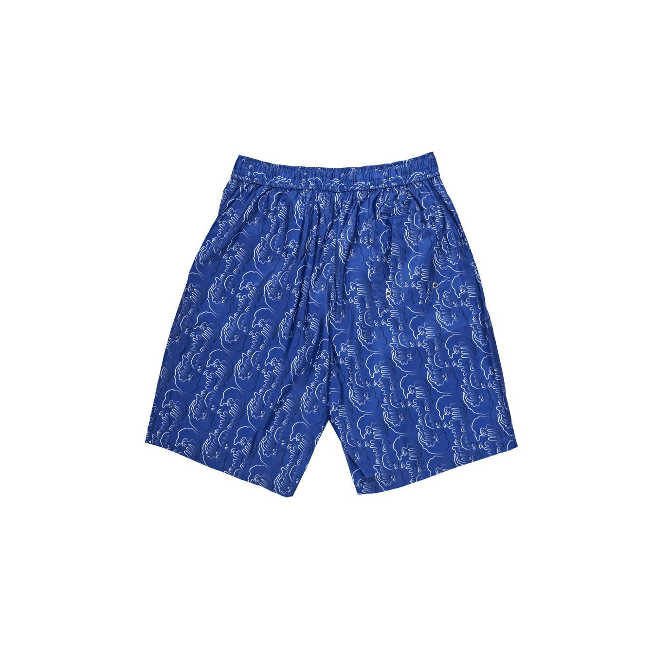 Polar Skate Co. Art Swim Shorts (Faces) Blue