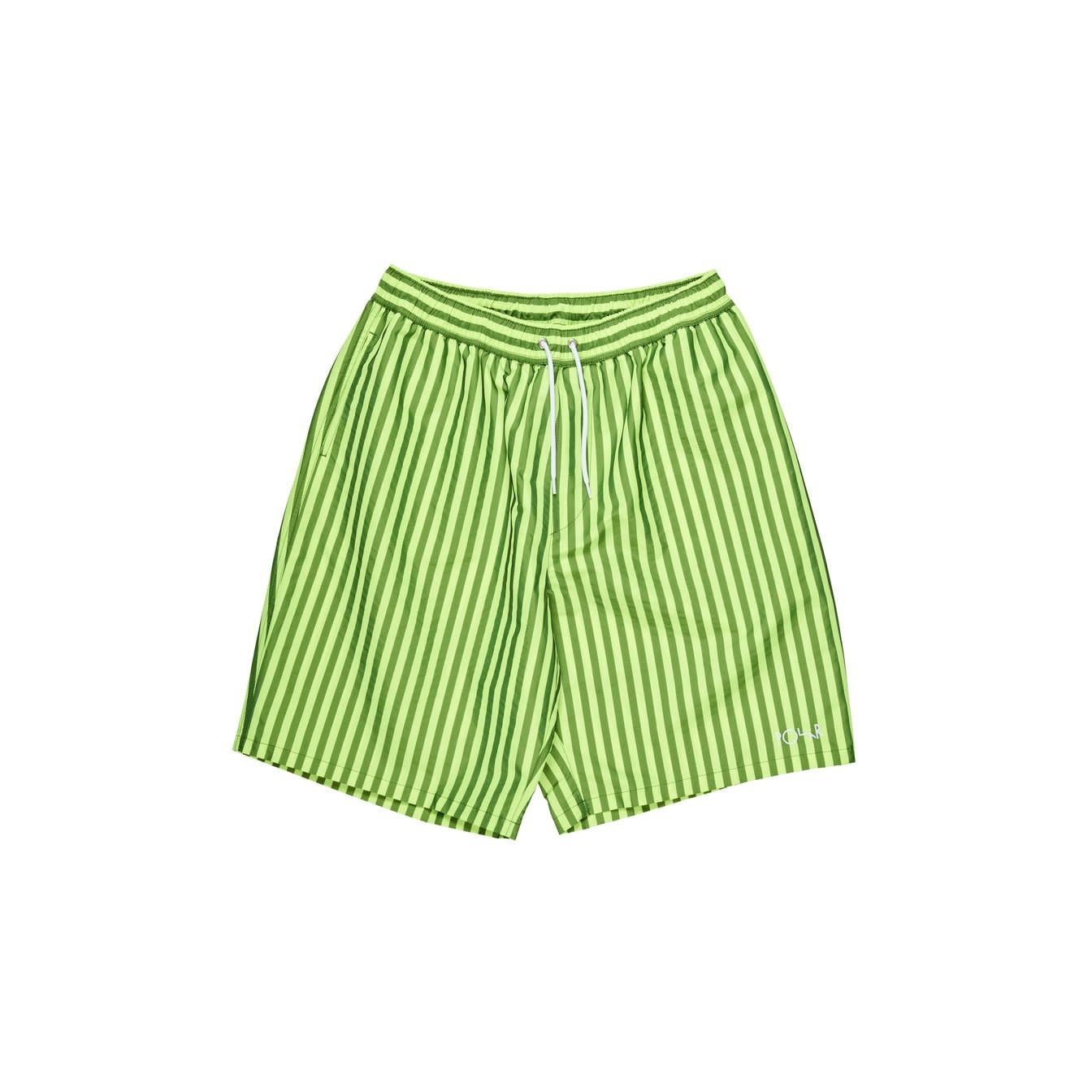 Polar Skate Co. Stripe Swim Shorts Neon Yellow