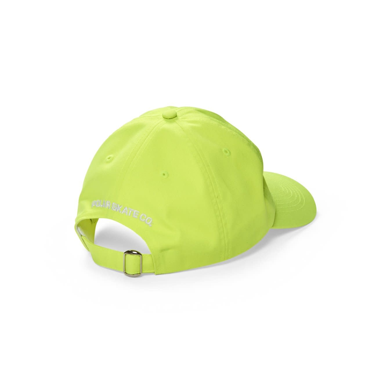Polar Skate Co. Stroke Logo Cap Neon Yellow 56c