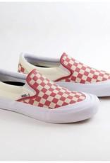 Vans Shoes Slip On Pro Toe-Cap Checker/Red