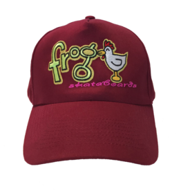Frog Skateboards Lucky Chicken Hat Red