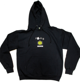 Frog Skateboards Lady Bug Hoodie Black